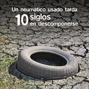 Un neumático tarda mil años en descomponerse
