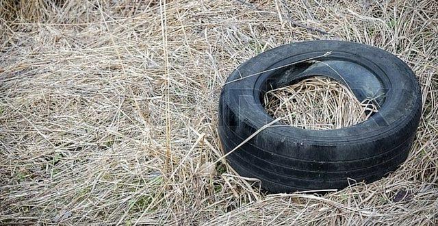 Neumático no reciclado