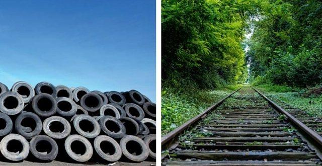De la rueda de un coche a la vía del tren