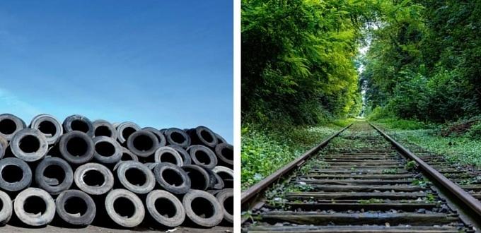 de neumatico a via de tren