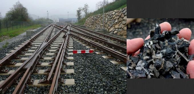 Neumáticos reciclados para vías de tren