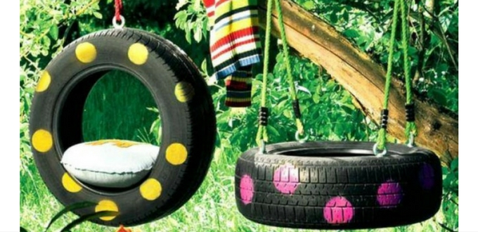 DIY : ¿Hacemos un sencillo columpio con un neumático?