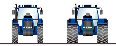 Neumáticos estrechos para tractor