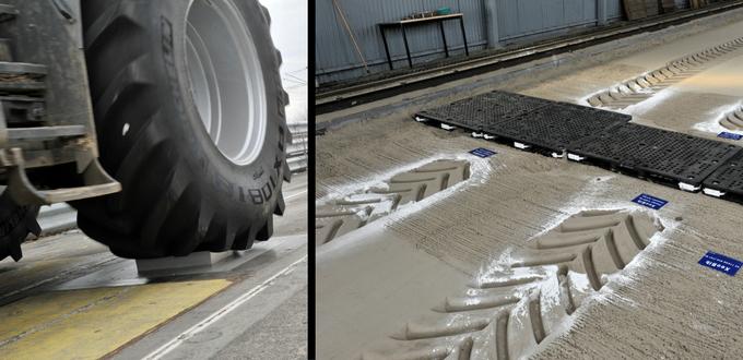 Campos muy tecnológicos para probar los neumáticos agrícolas