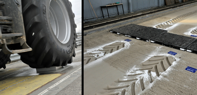 pruebas para neumáticos agrícolas