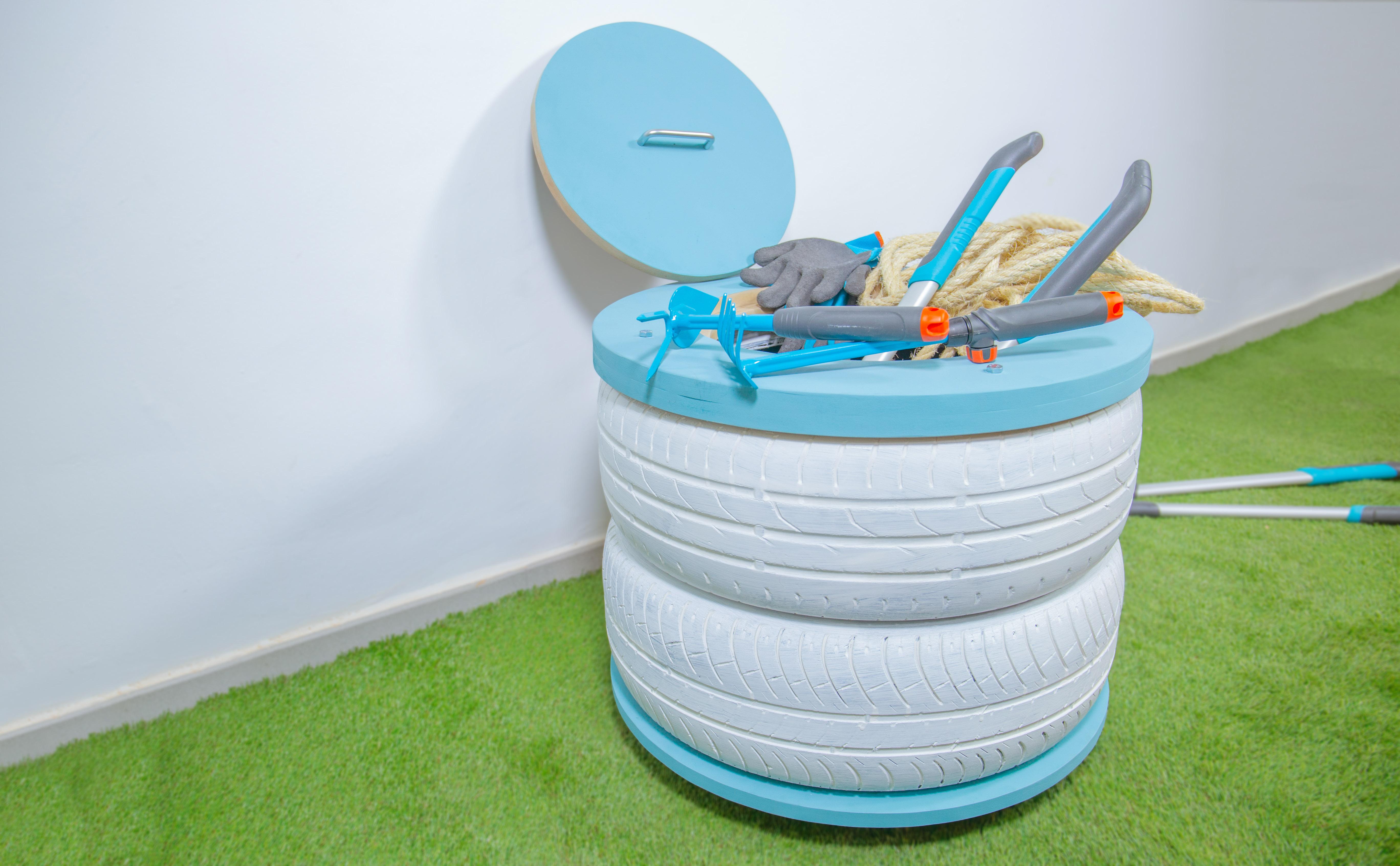 Pintar Neumaticos Usados Como Reciclar Neumaticos Usados De Coche  # Muebles Con Neum?ticos