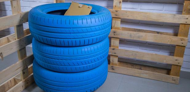 Haz un cubo de reciclaje con neumáticos usados