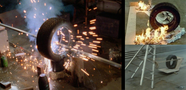 Neumáticos como intrépidos actores en 'The way things go'