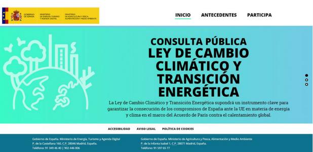 Ley de Cambio climático y Transición energética: Abierto a todos el proceso de consulta pública