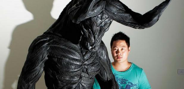 Las inquietantes esculturas de 'neumáticos mutantes' de Yong Ho Ji