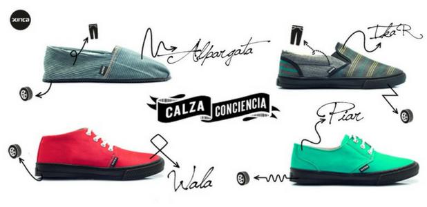 Xinca fabrica distintos tipos de calzado con materiales reciclados