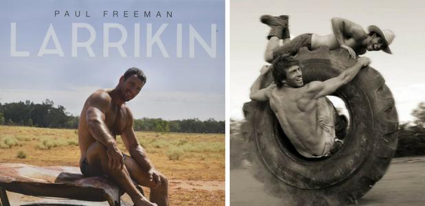 Paul Freeman: Hombres desnudos entre neumáticos calientes