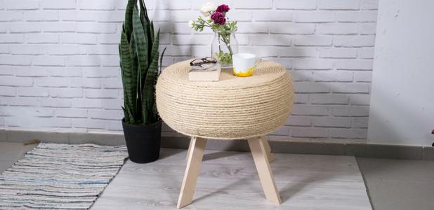 Cómo hacer una mesa decorada con cuerda