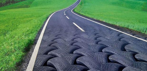 Vidas de neumáticos: primero para ir por las carreteras y después para hacerlas