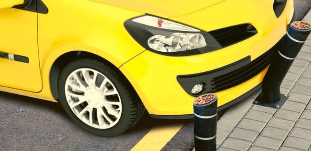 De la rueda al bolardo: el neumático se transforma en mobiliario urbano