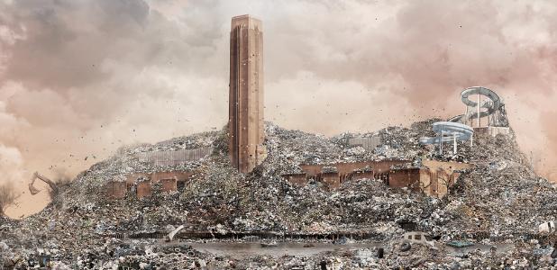 Los monumentos de basura de Ángel Pantoja: de la Giralda a la Gran Vía de Madrid