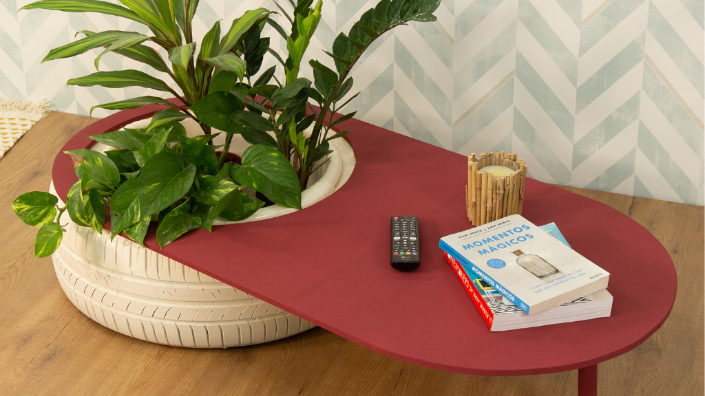 Cómo hacer una mesa baja con macetero