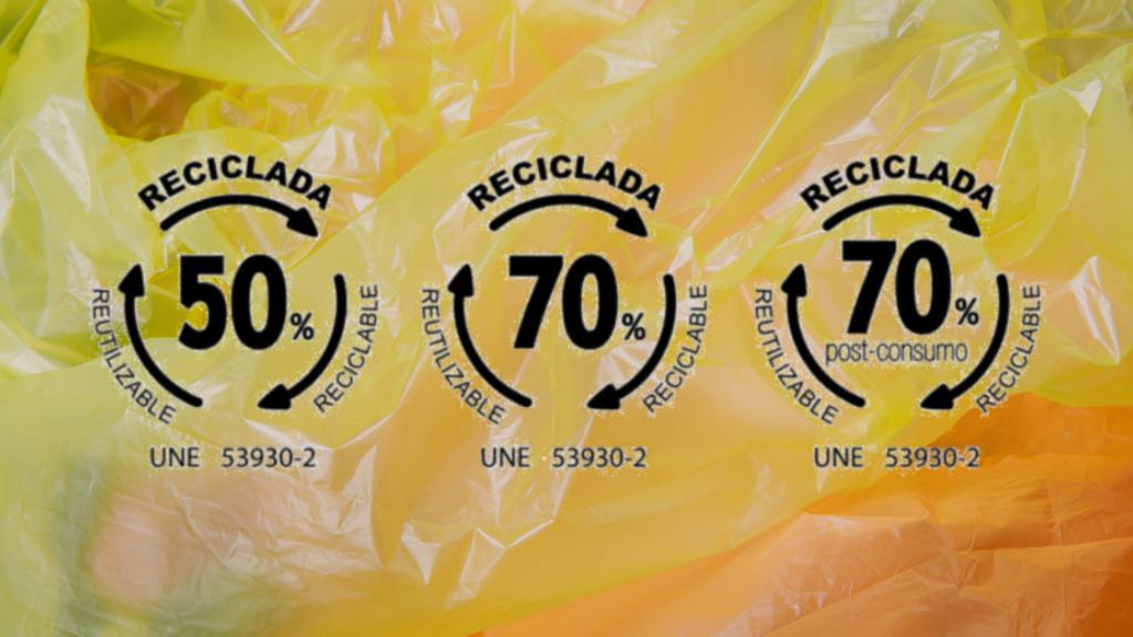 Norma UNE para el porcentaje de material reciclado en bolsas de plástico