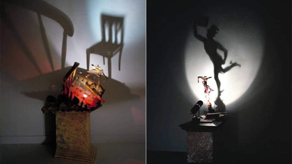 Varias obras de Diet Wiegman creadas a partir del uso de la luz y las sombra
