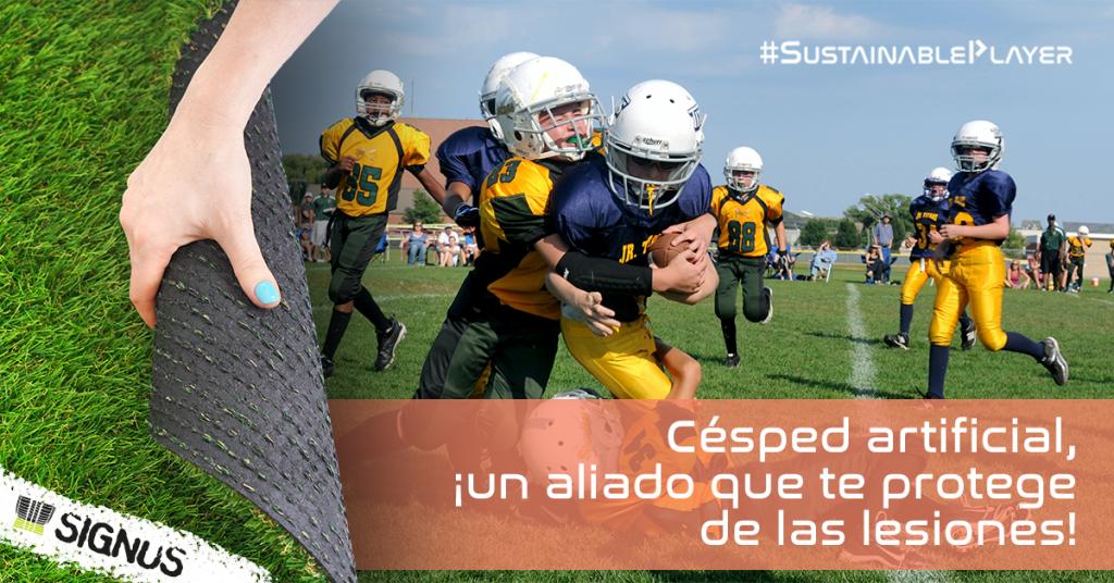 El granulado de caucho absorbe los impactos que los jugadores sufren en el campo. Esta capacidad de absorción de energía ayuda a prevenir lesiones y proporciona seguridad contra los traumas.