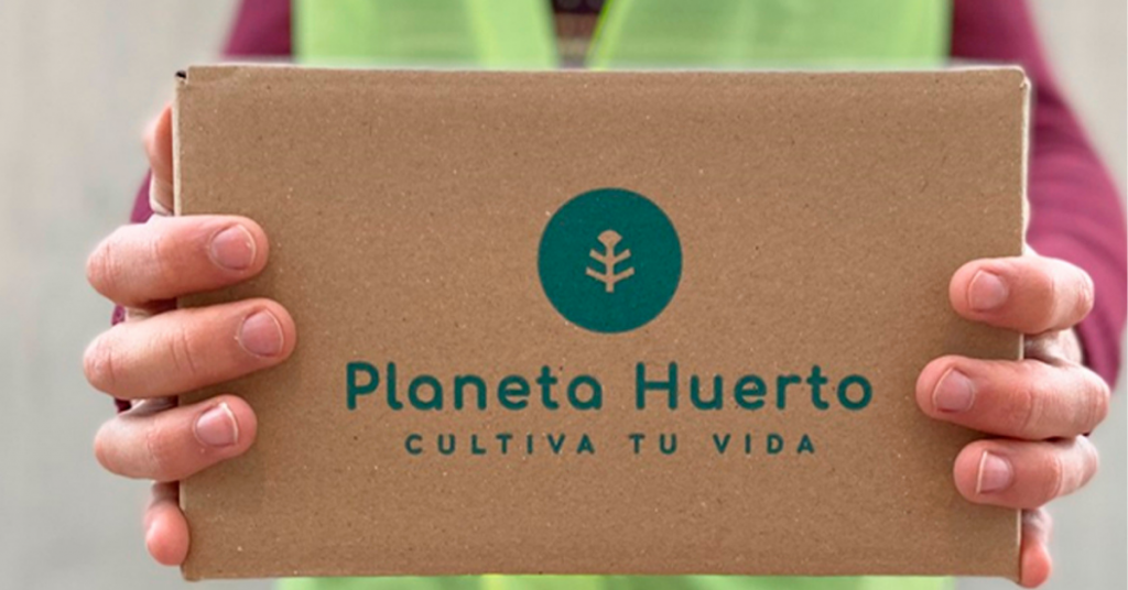 Empaquetado de la tienda ecológica Planeta Huerto
