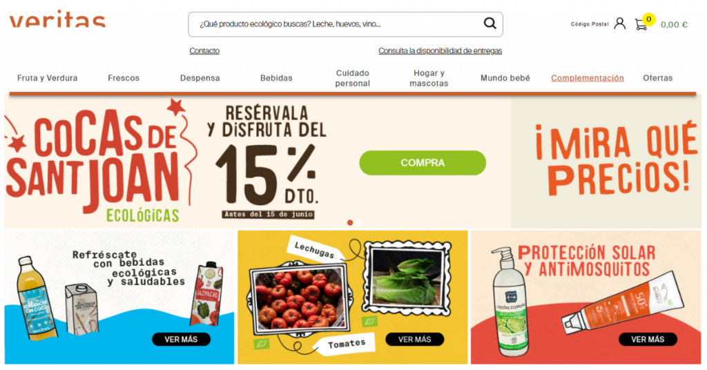Cadena de supermercados ecológicos Veritas